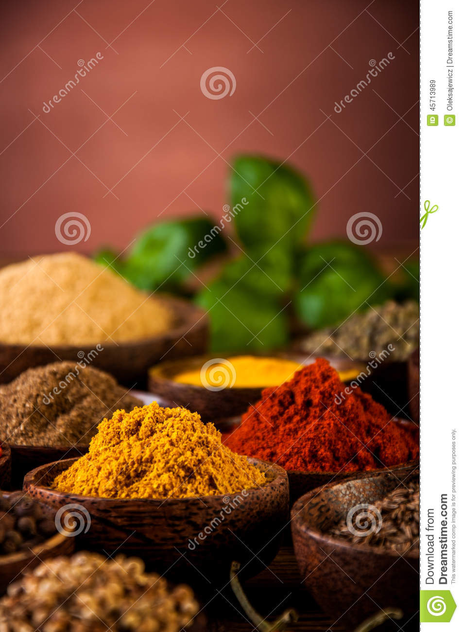 Spices of Indonesia stock image  Image of nature, cinnamon - 45713989