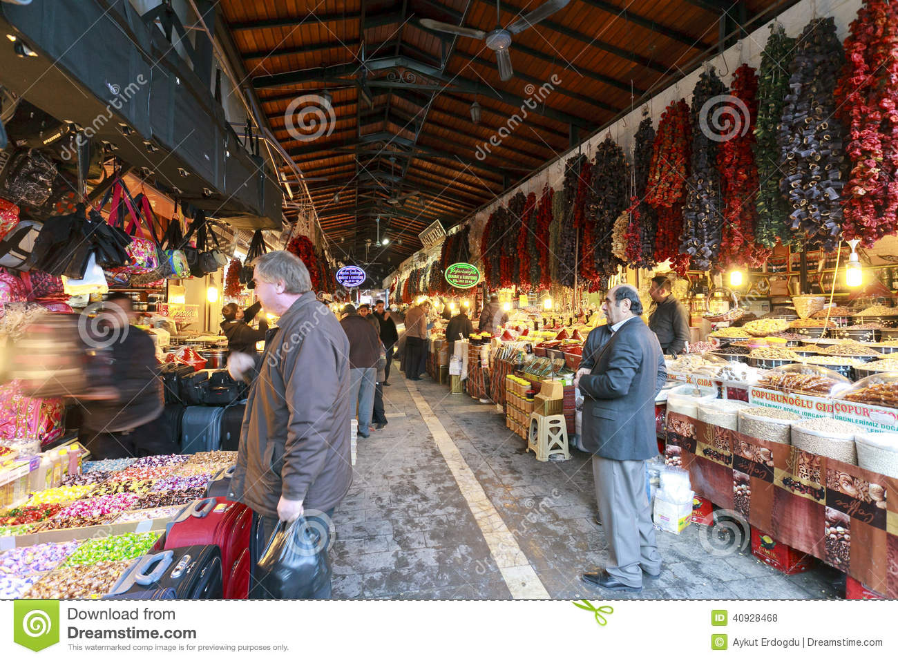 Spices And Ornaments And Copper Decoration Bazaar In