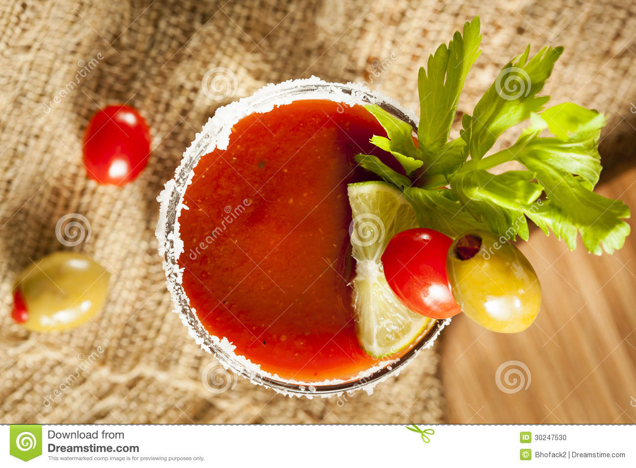Spicy Bloody Mary Alcoholic Drink Royalty Free Stock