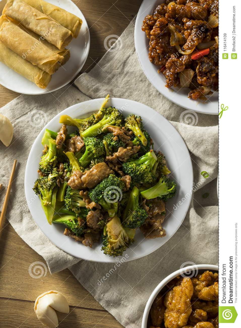 Spicy Chinese Take Out Food Stock Image - Image of ...