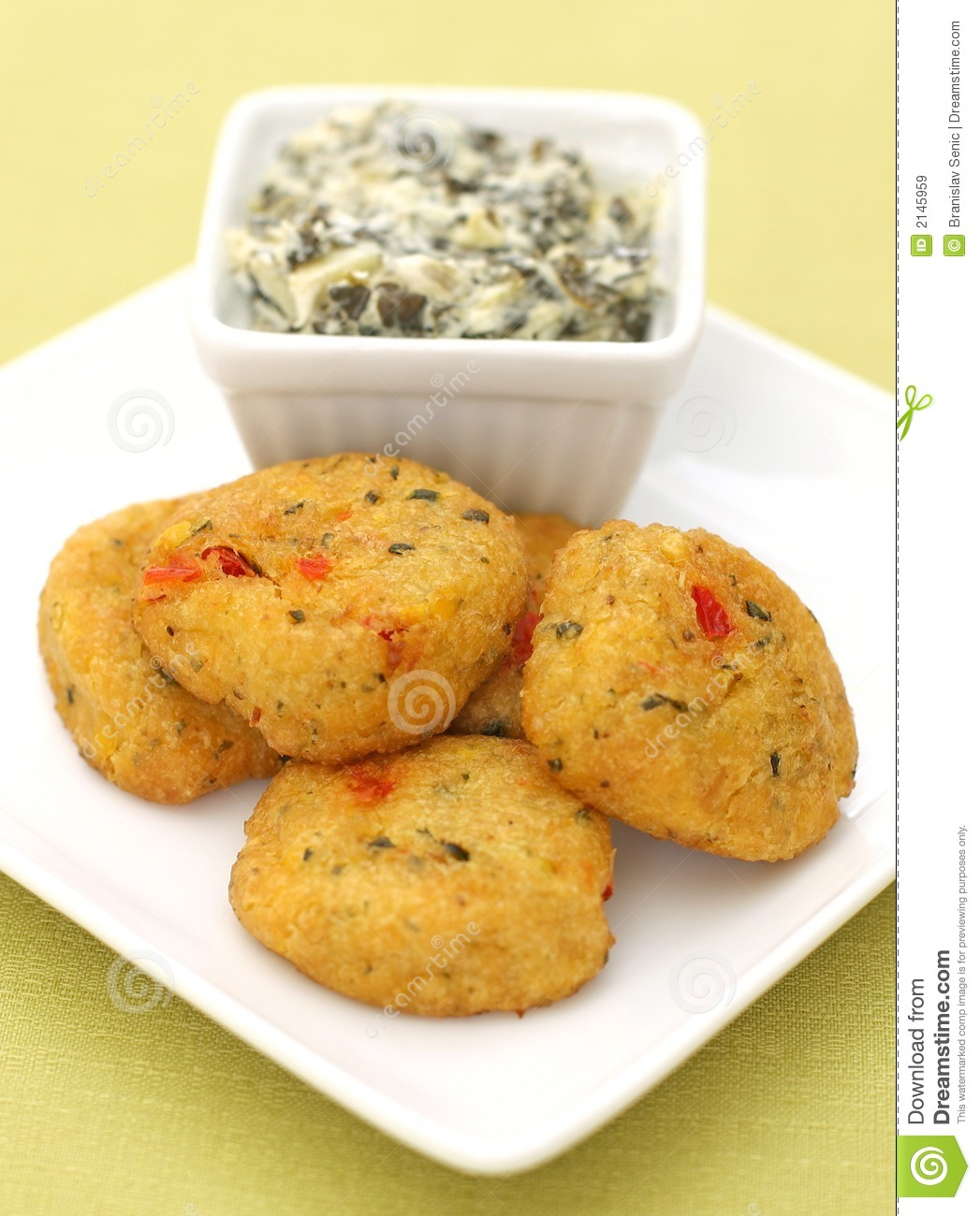 Crab Cakes And Dipping Sauce