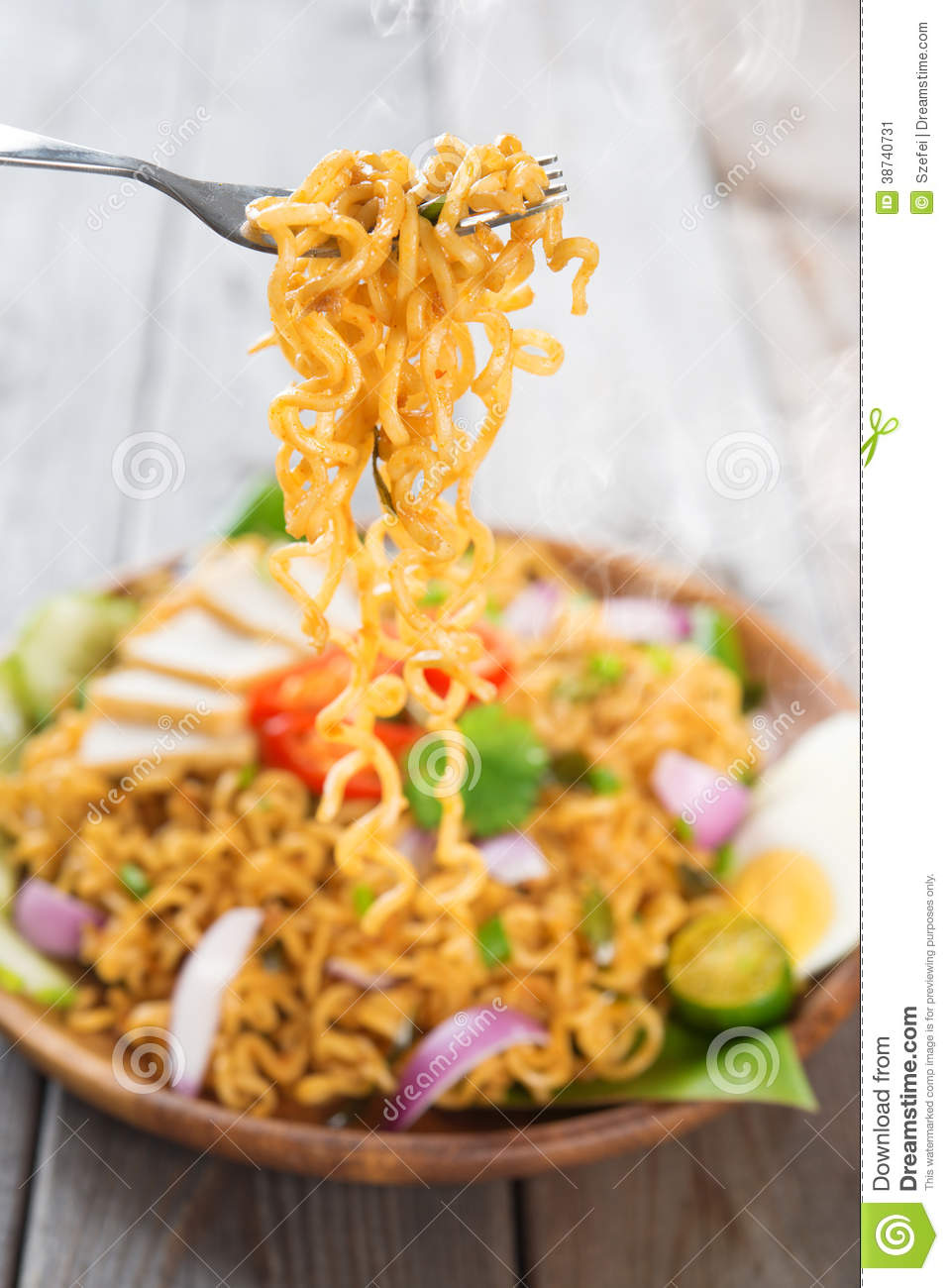 Spicy Fried Curry Instant Noodles Stock Image Image  : spicy fried curry instant noodles malaysian style maggi goreng mamak ready to serve wooden dining table setting fresh hot 38740731 from www.dreamstime.com size 958 x 1300 jpeg 127kB