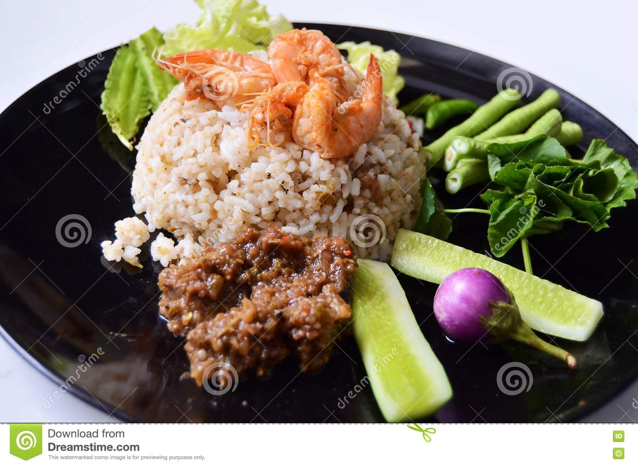 Spicy Fried Rice With Shrimp Royalty Free Stock Photos - Image ...