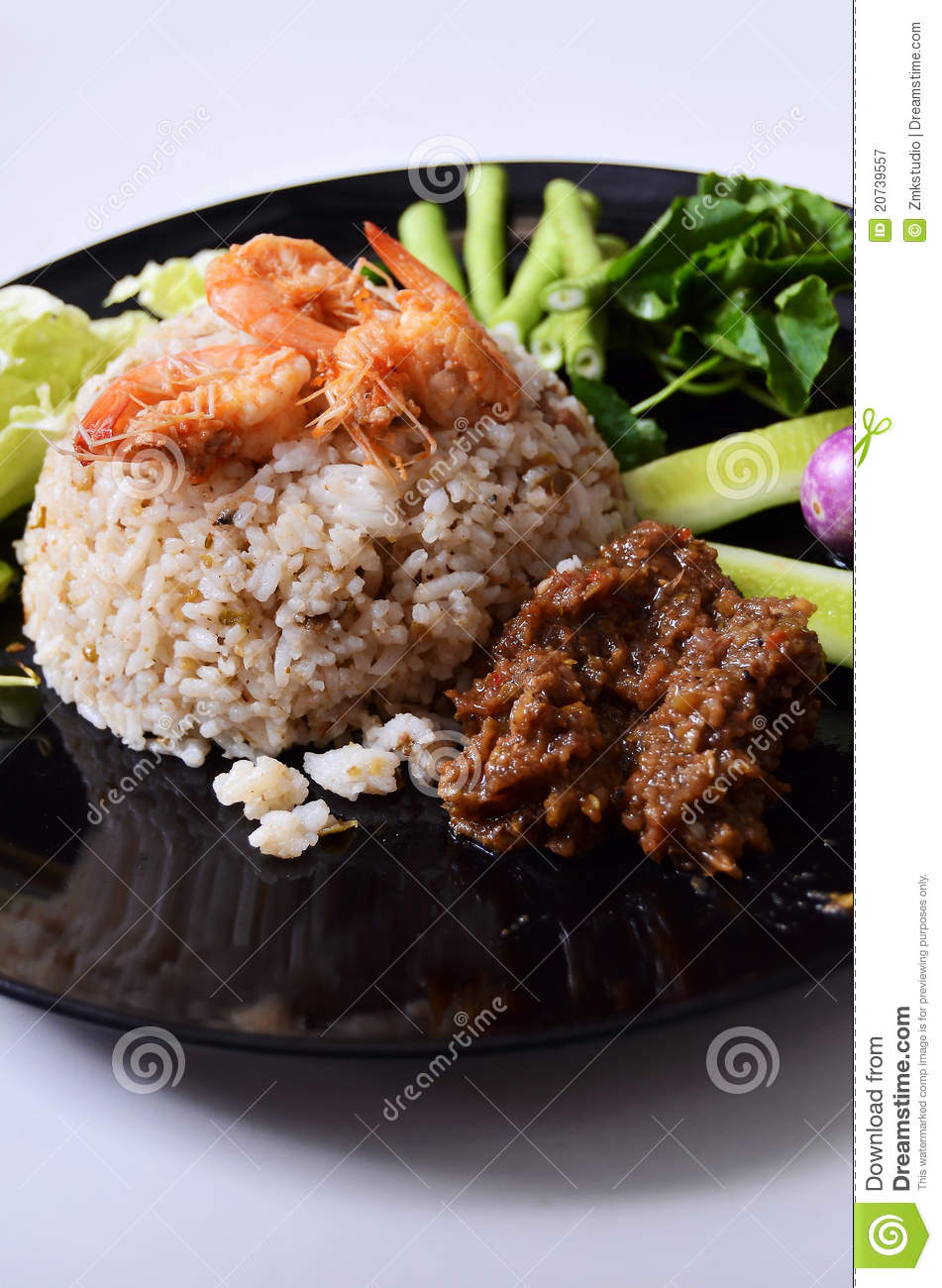 Spicy Fried Rice With Shrimp Royalty Free Stock Photography - Image ...