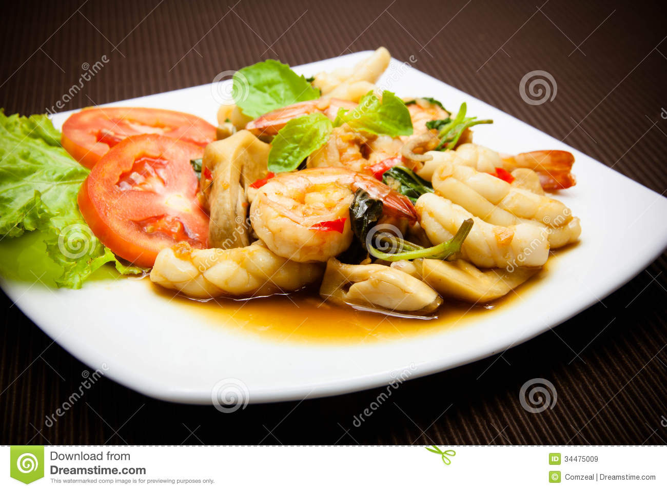 basil squid thai squid with holy basil thai basil squid stir basil sea ...