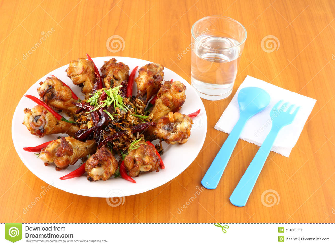 Spicy Herb Fried Chicken Royalty Free Stock Photography ...