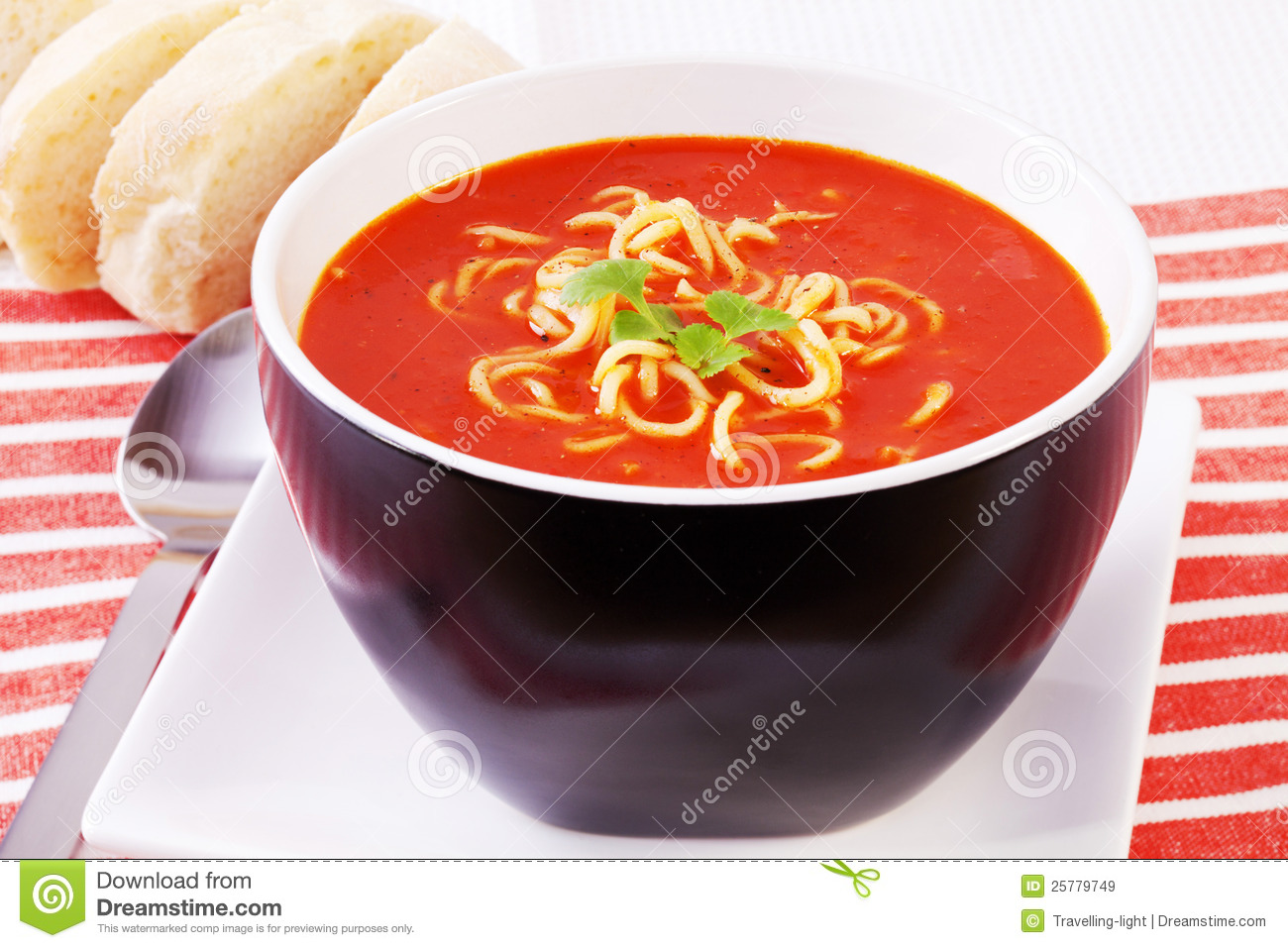 Spicy Mexican Tomato And Noodle Soup Royalty Free Stock Images - Image ...