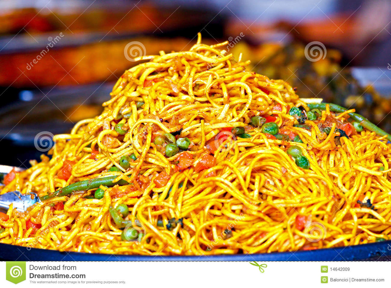 Spicy Noodles Royalty Free Stock Images - Image: 14642009