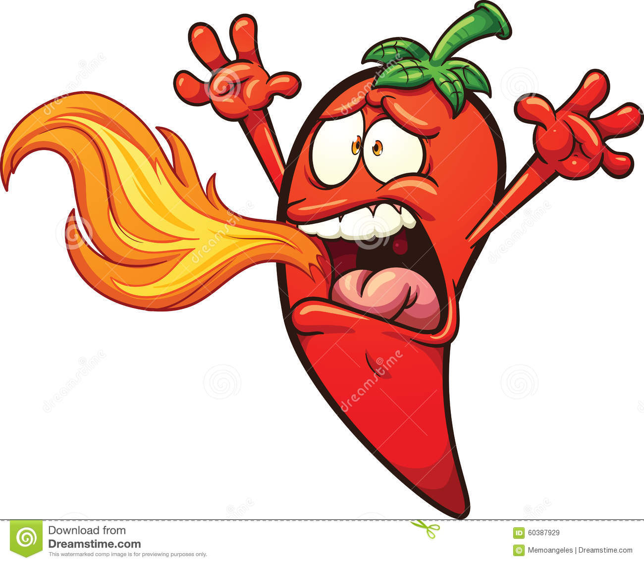 Spicy pepper stock vector. Illustration of vector ...