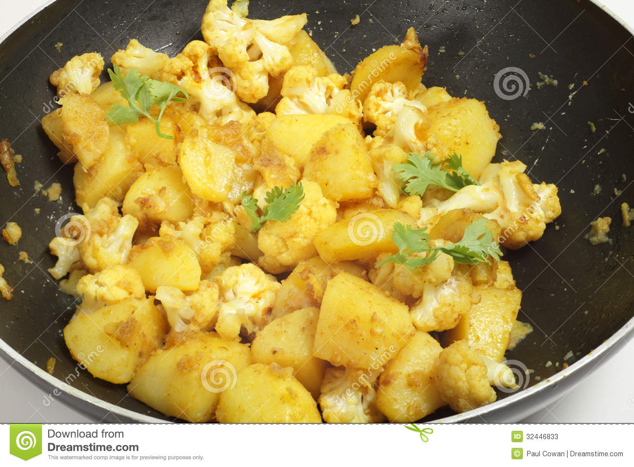 spicy-potato-cauliflower-aloo-gobi-sauteed-spices-popular-north-indian ...