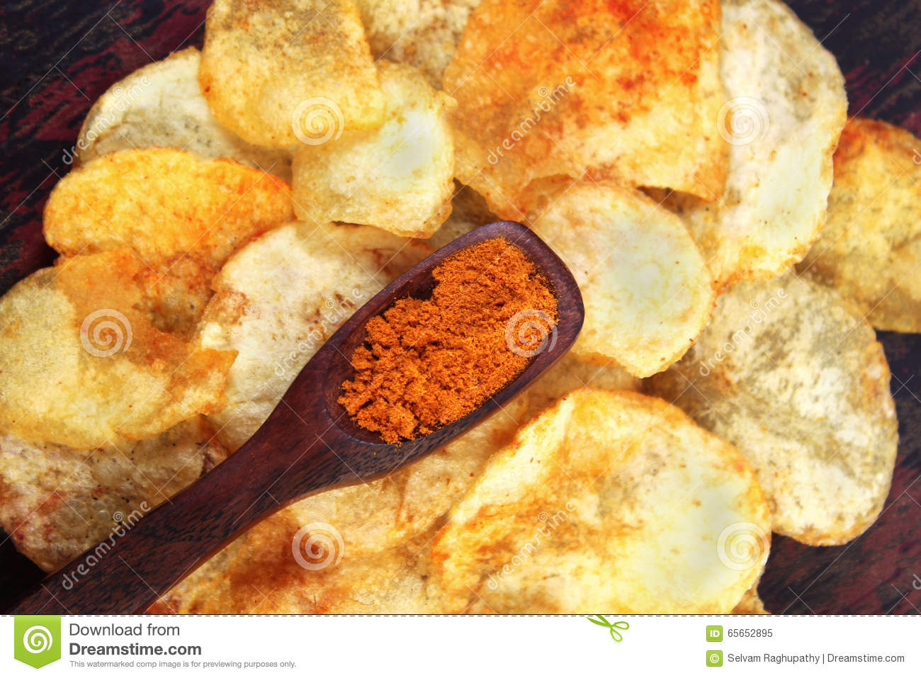 Spicy Potato Chips