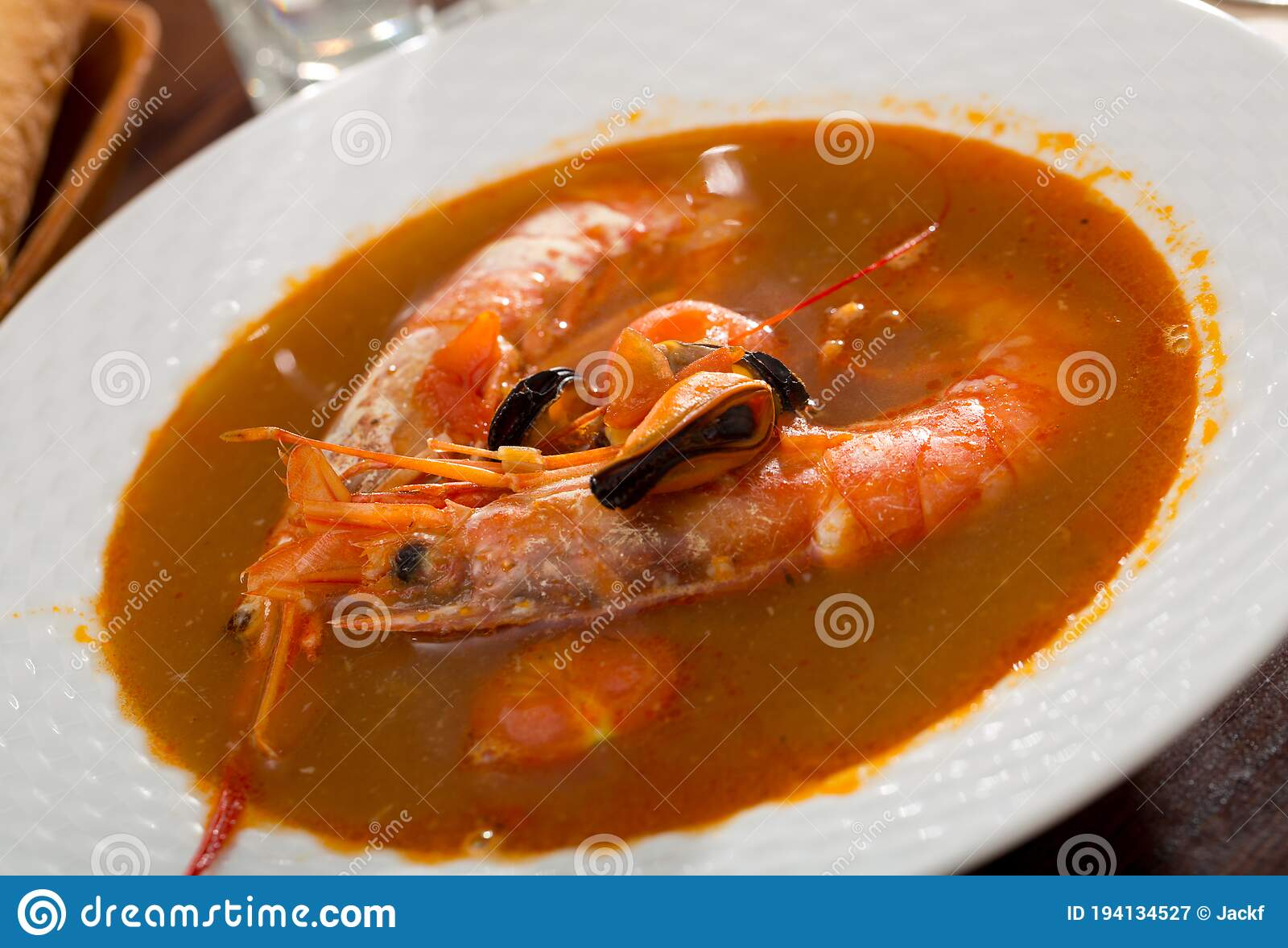 Spicy Seafood Broth With King Prawns ...