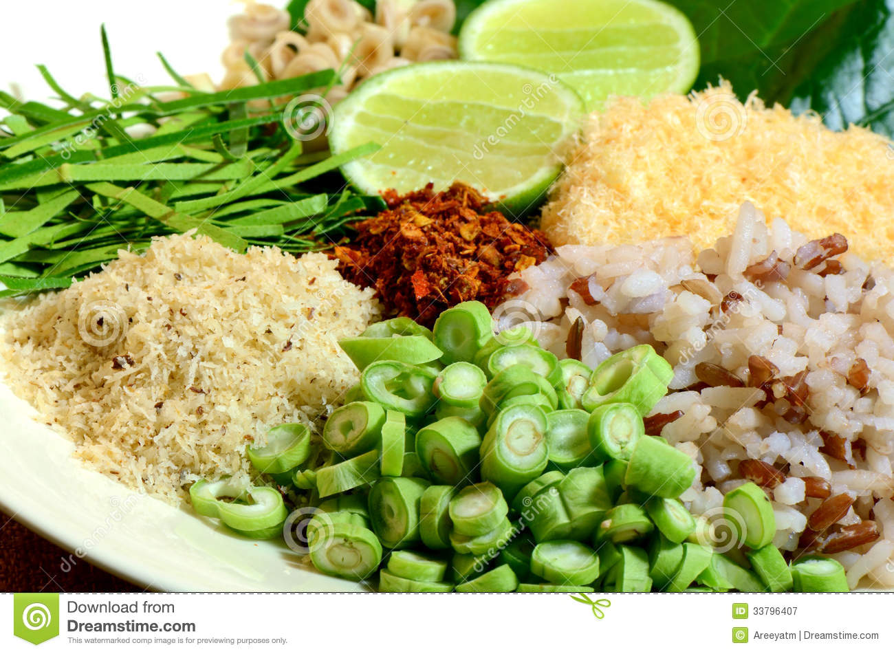 Spicy thai cuisine khao yam royalty free stock photography for Cuisine thai