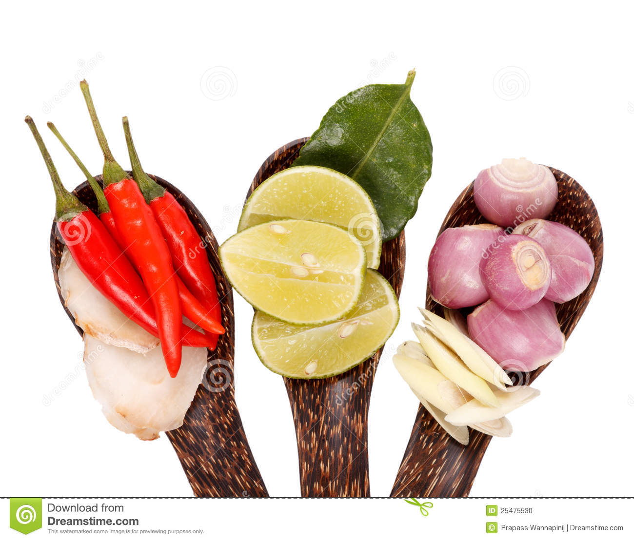 Spicy thai food ingredients stock photo image 25475530 for 8 spices thai cuisine