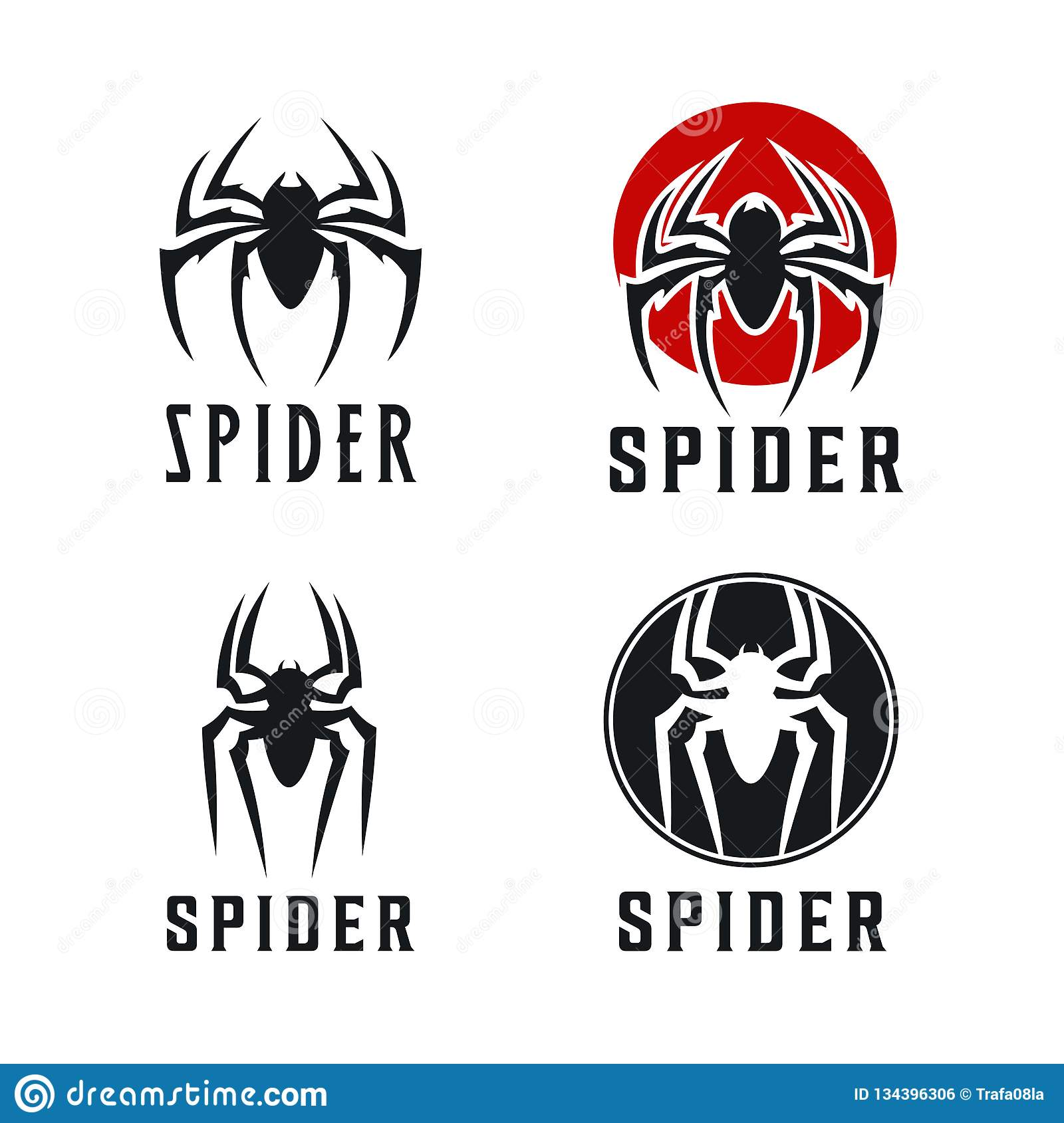 Spider Badge logo design inspiration Illustration