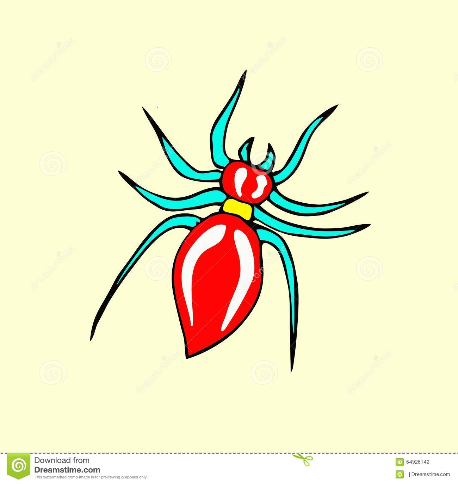Spider Cartoon Stock Illustration - Image: 64926142