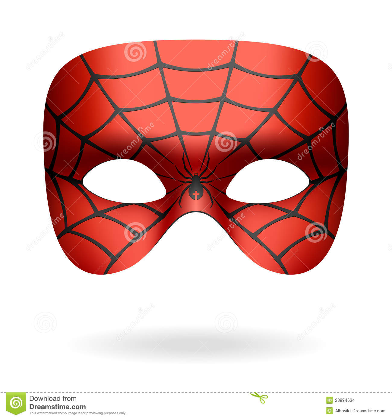 spider mask stock vector illustration of masquerade