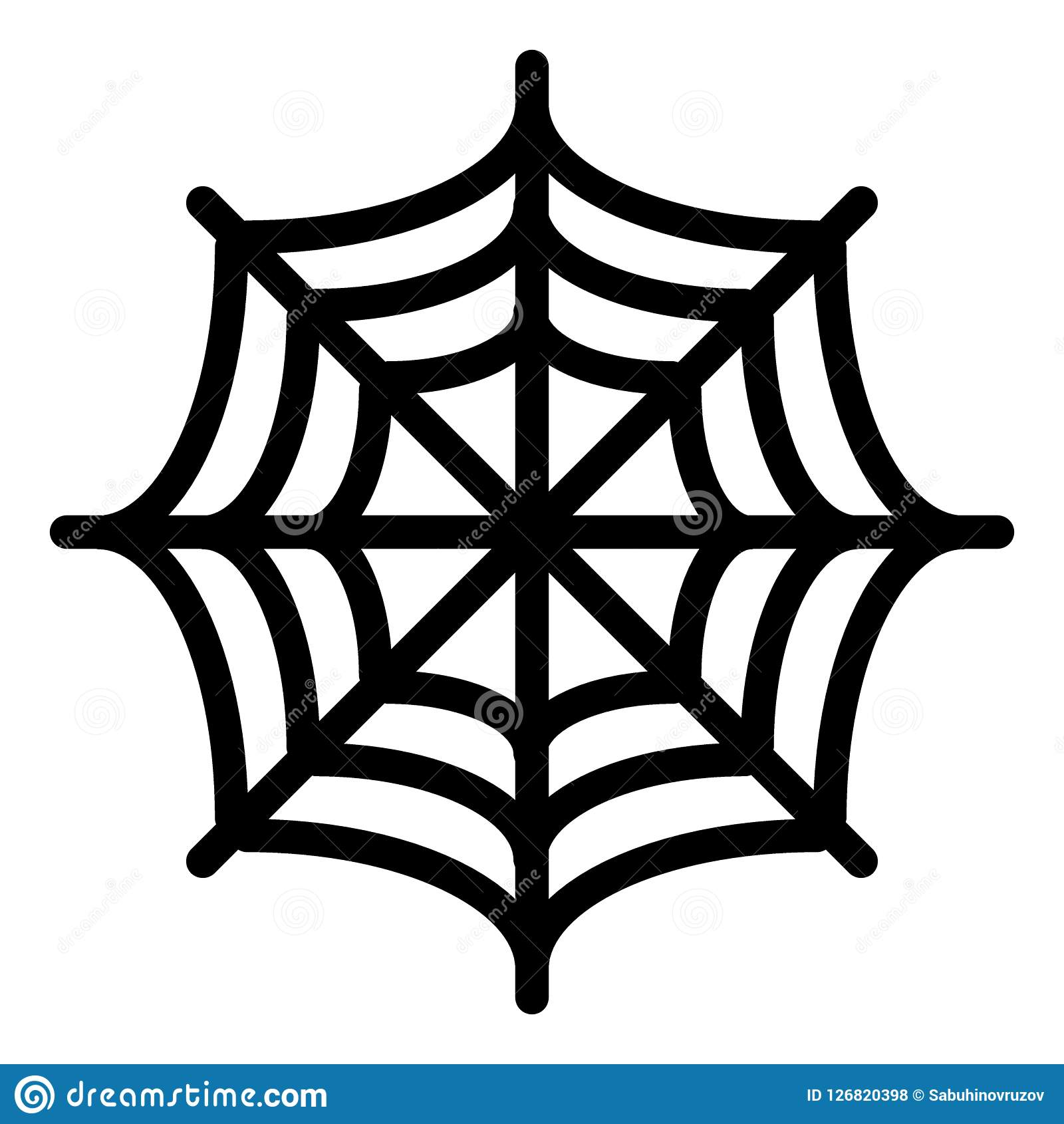 spider net line icon spider web vector illustration isolated on