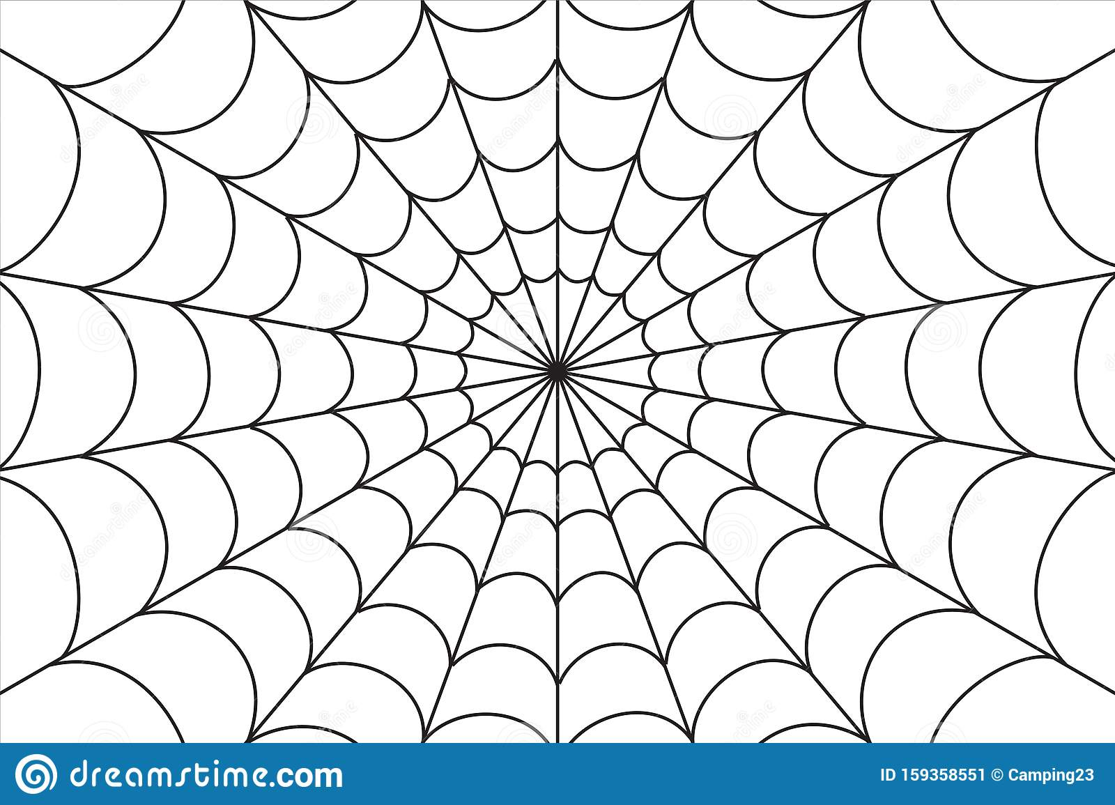 Spider web, illustration