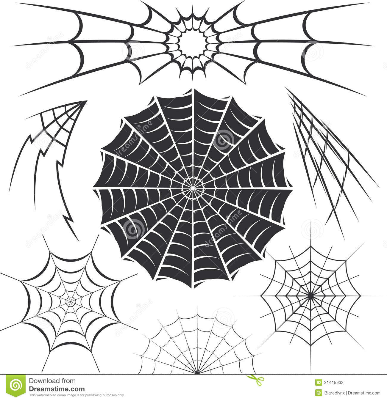 Spider webs stock vector illustration of elements for Cool drawing websites free
