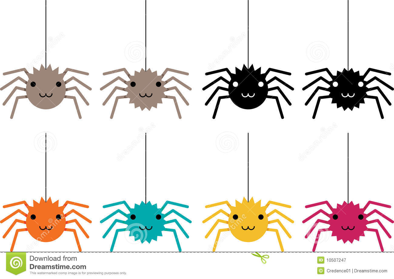 Spiders In Colours Royalty Free Stock Photography Image