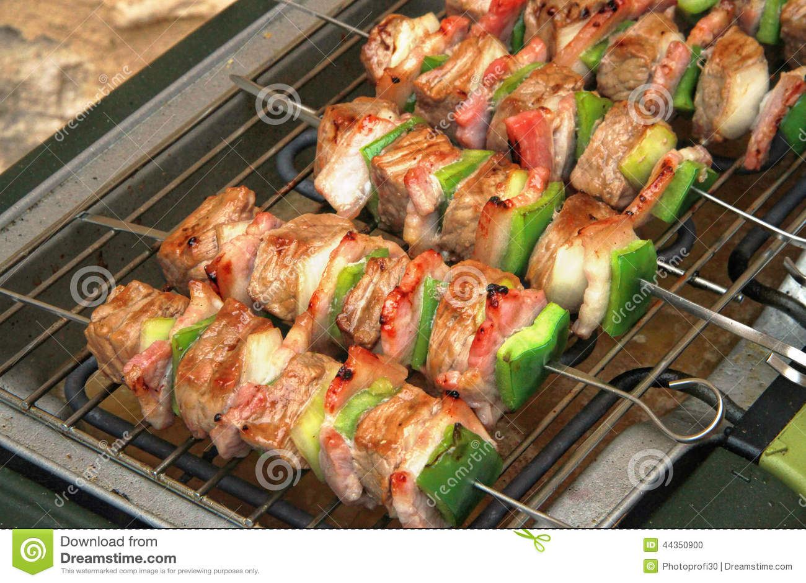 Spiedi della carne di maiale