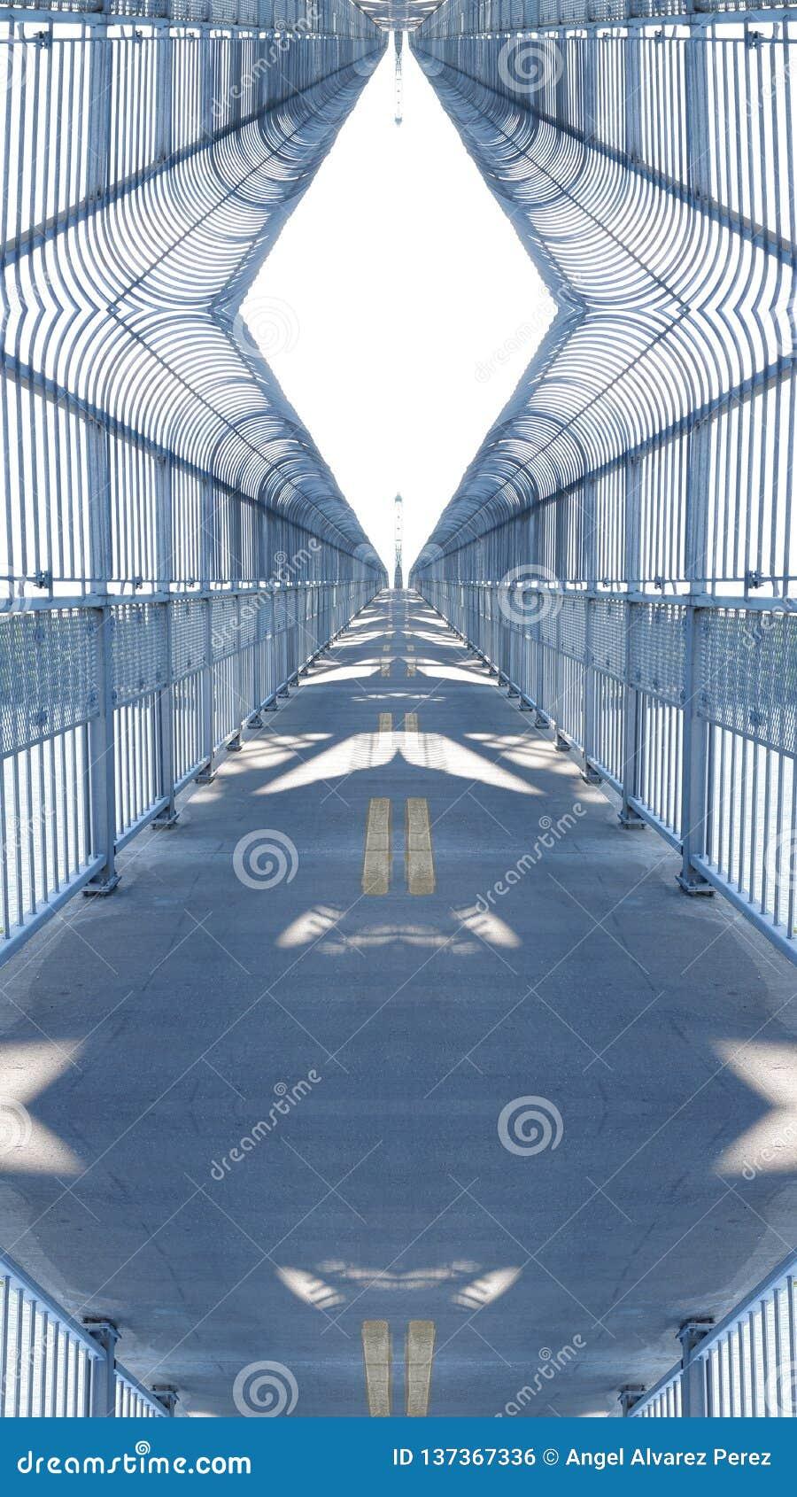 Spiegeleffect op een viaduct