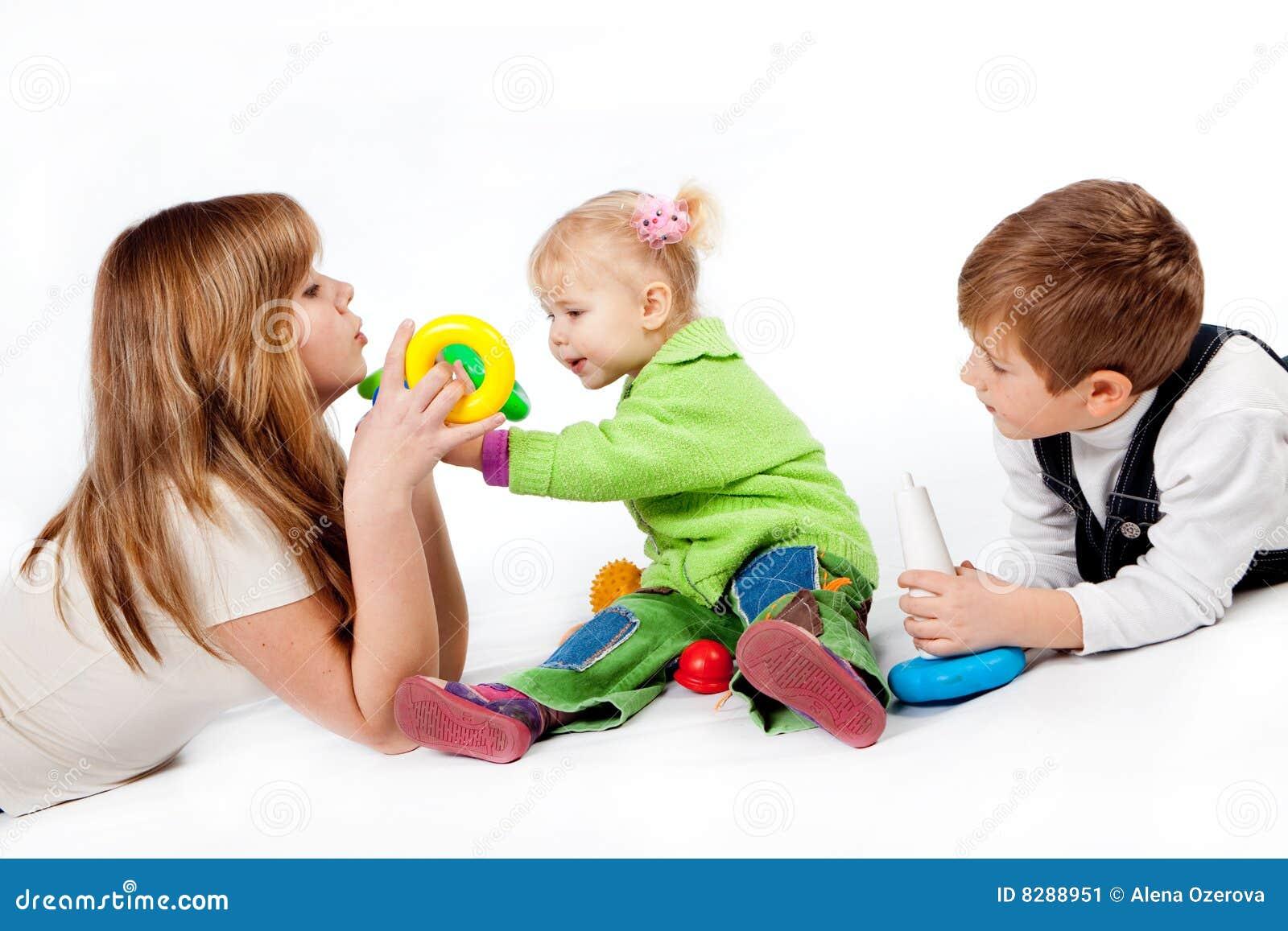 Spielen der Familie