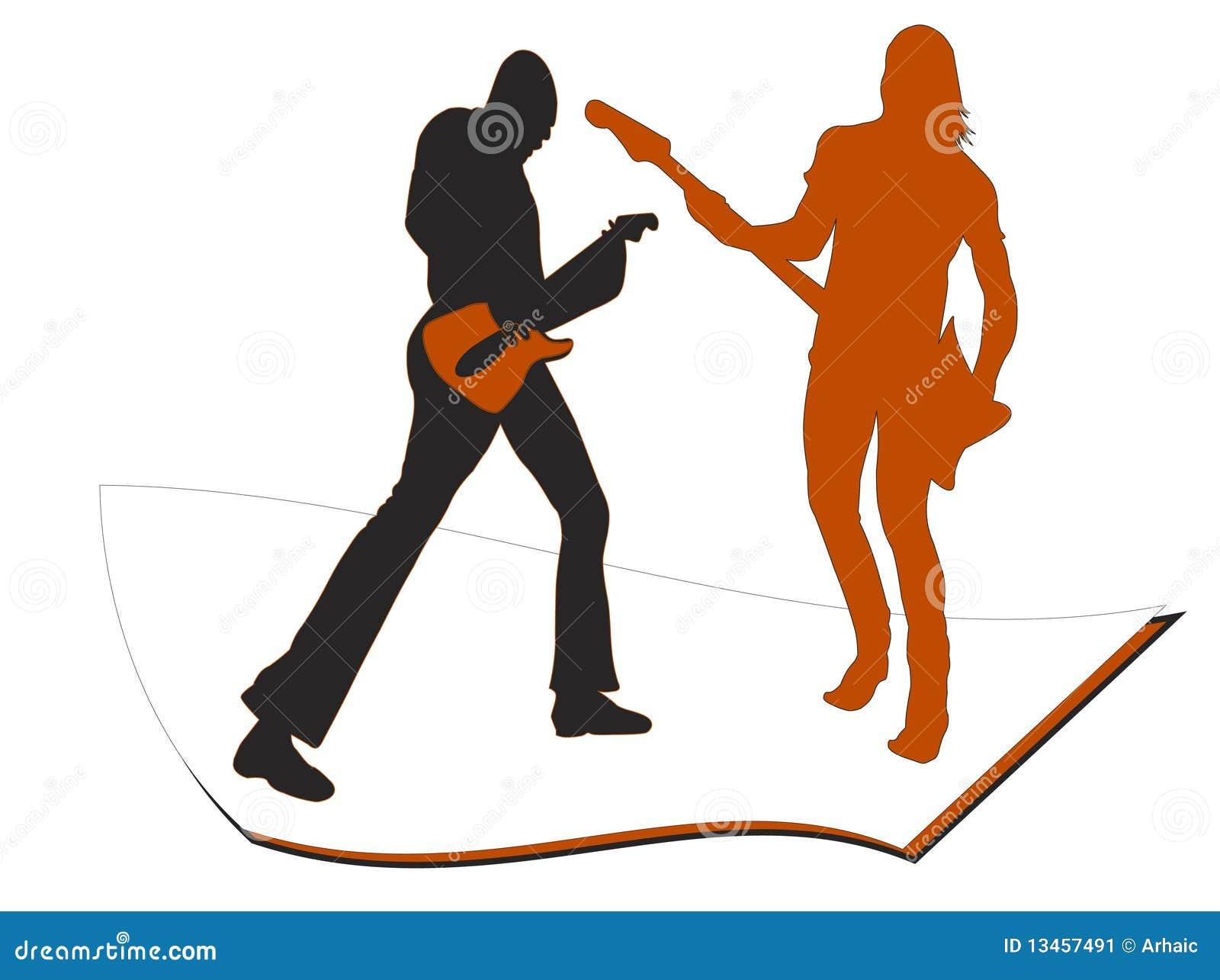 Spielen der Gitarre, unterhalten