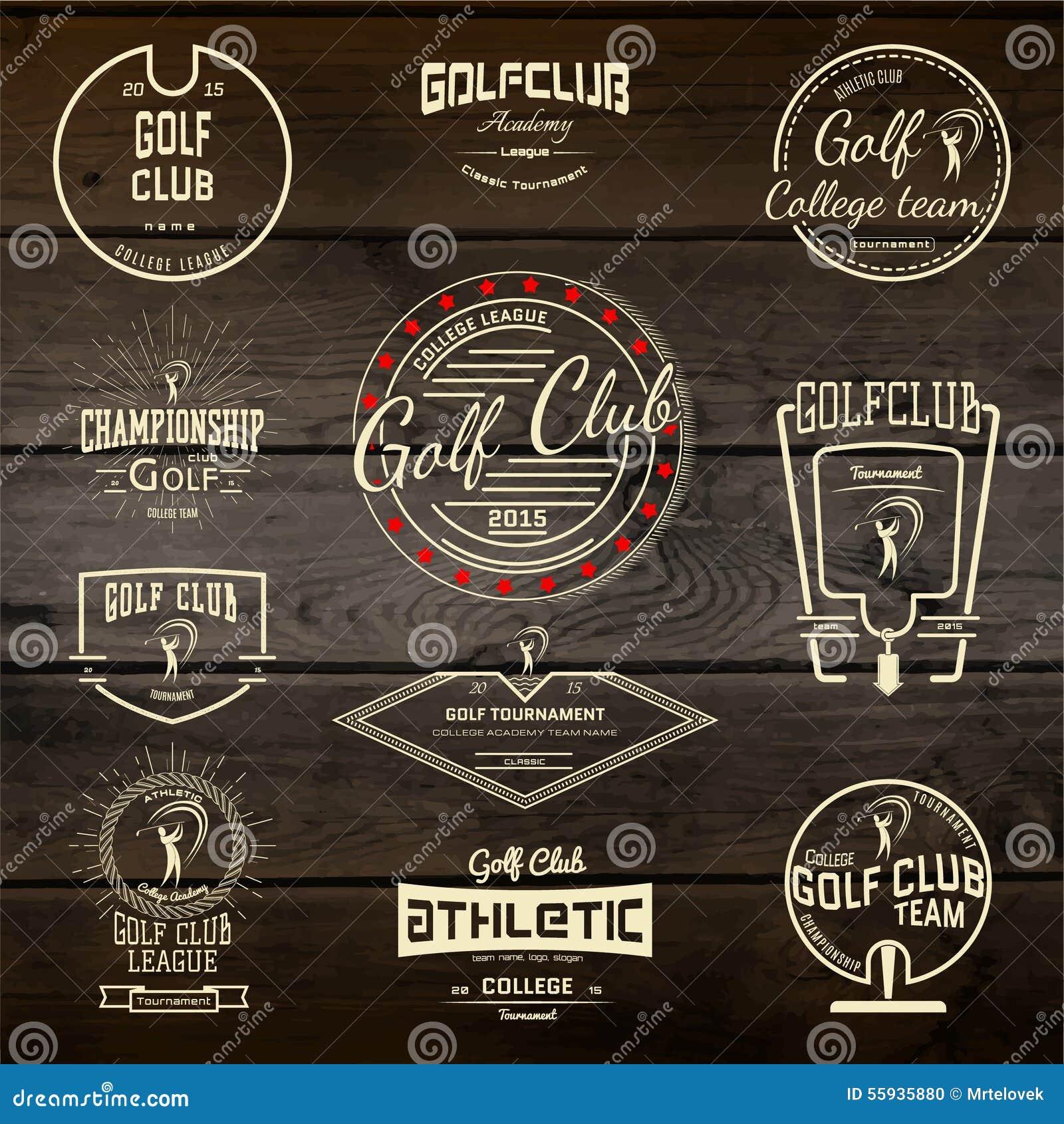 Spielen Sie Ausweislogos und -aufkleber für irgendwelche Gebrauch Golf