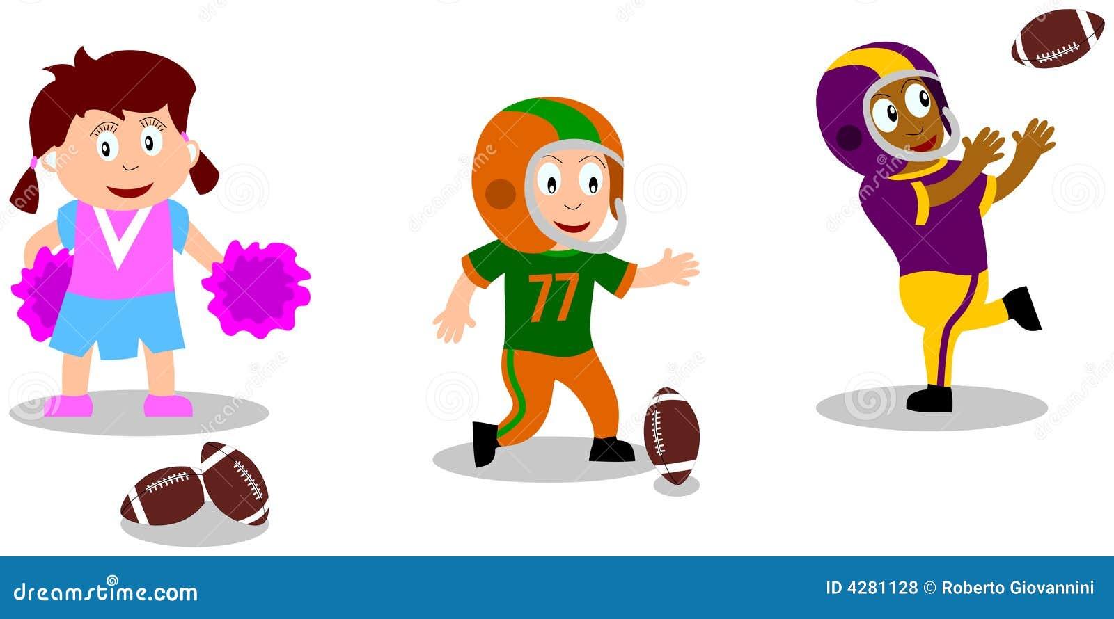 Spielende Kinder Fussball Stock Abbildung Illustration Von