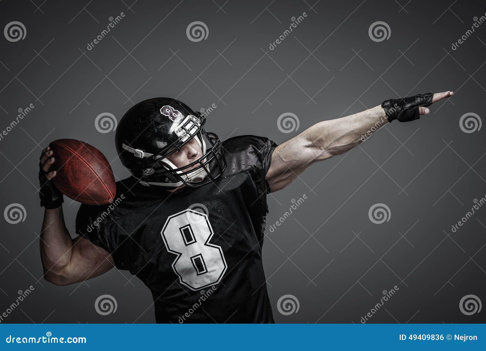 Download Spieler Des Amerikanischen Fußballs Stockfoto - Bild von spiel, kleidung: 49409836