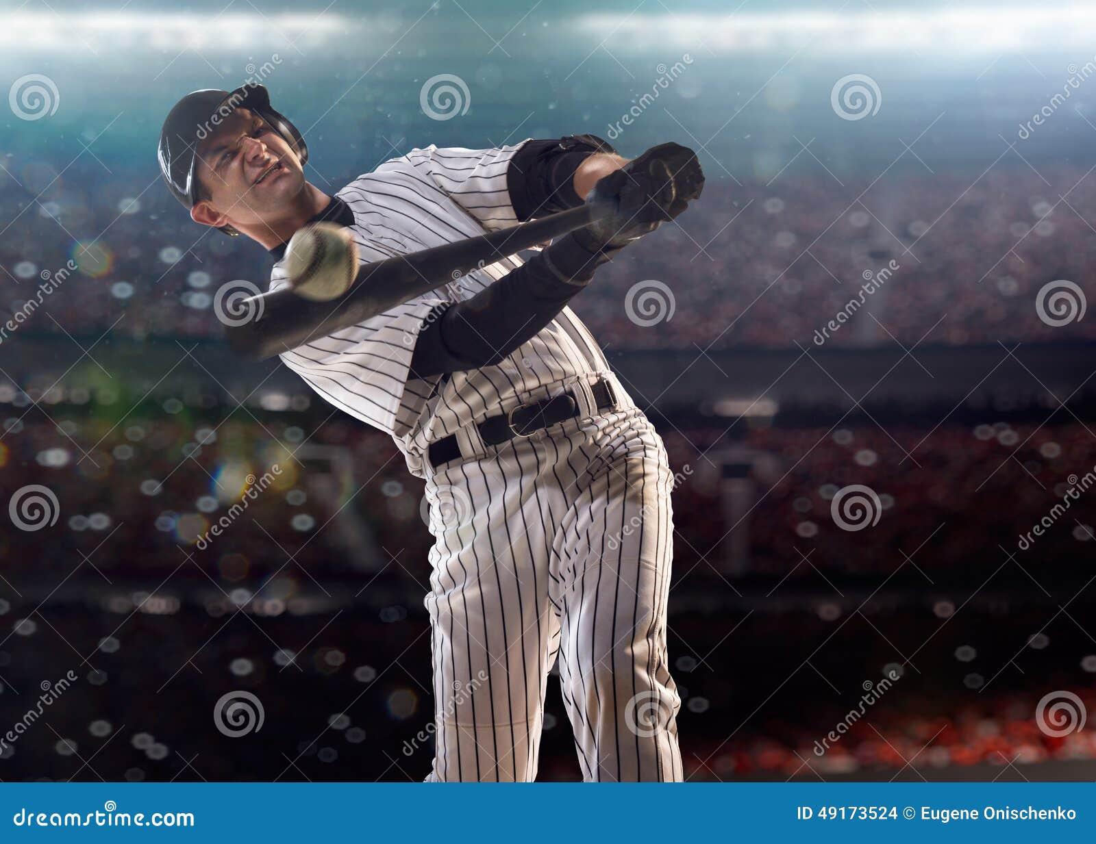 Spieler des professionellen Baseballs in der Aktion