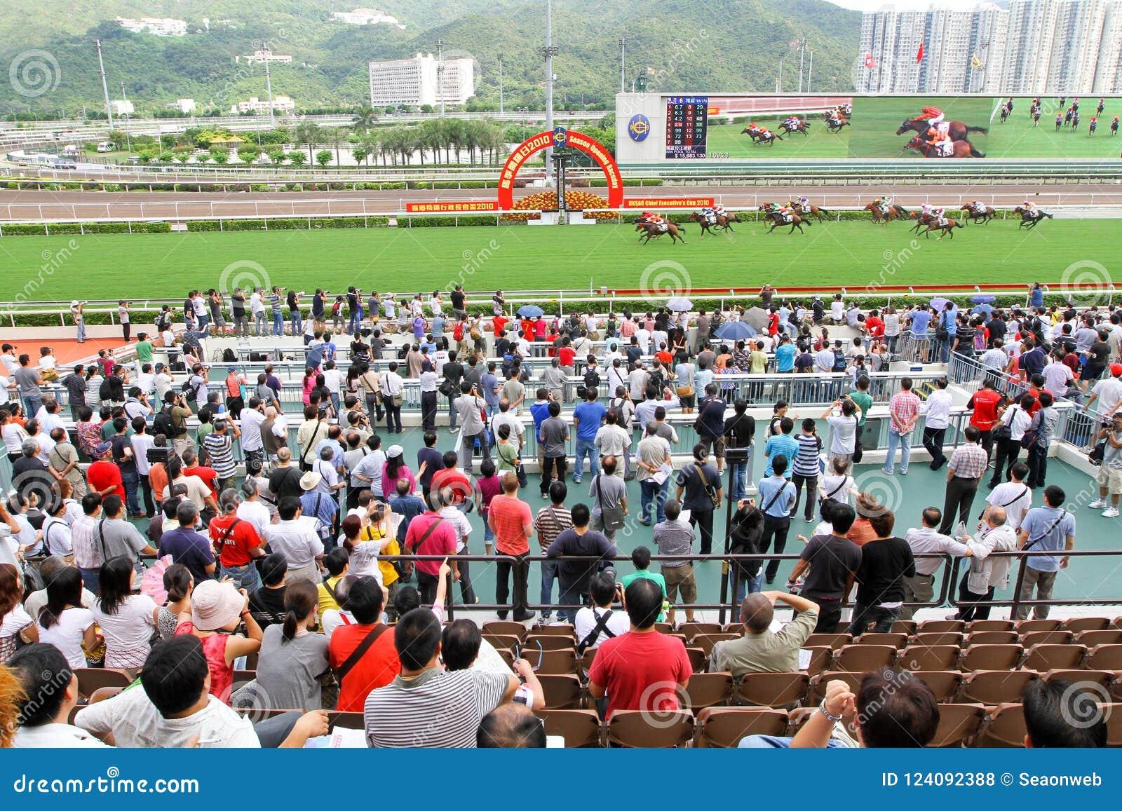 Spieler Sha Tin Racecourse, die im Zahlwerk spielen