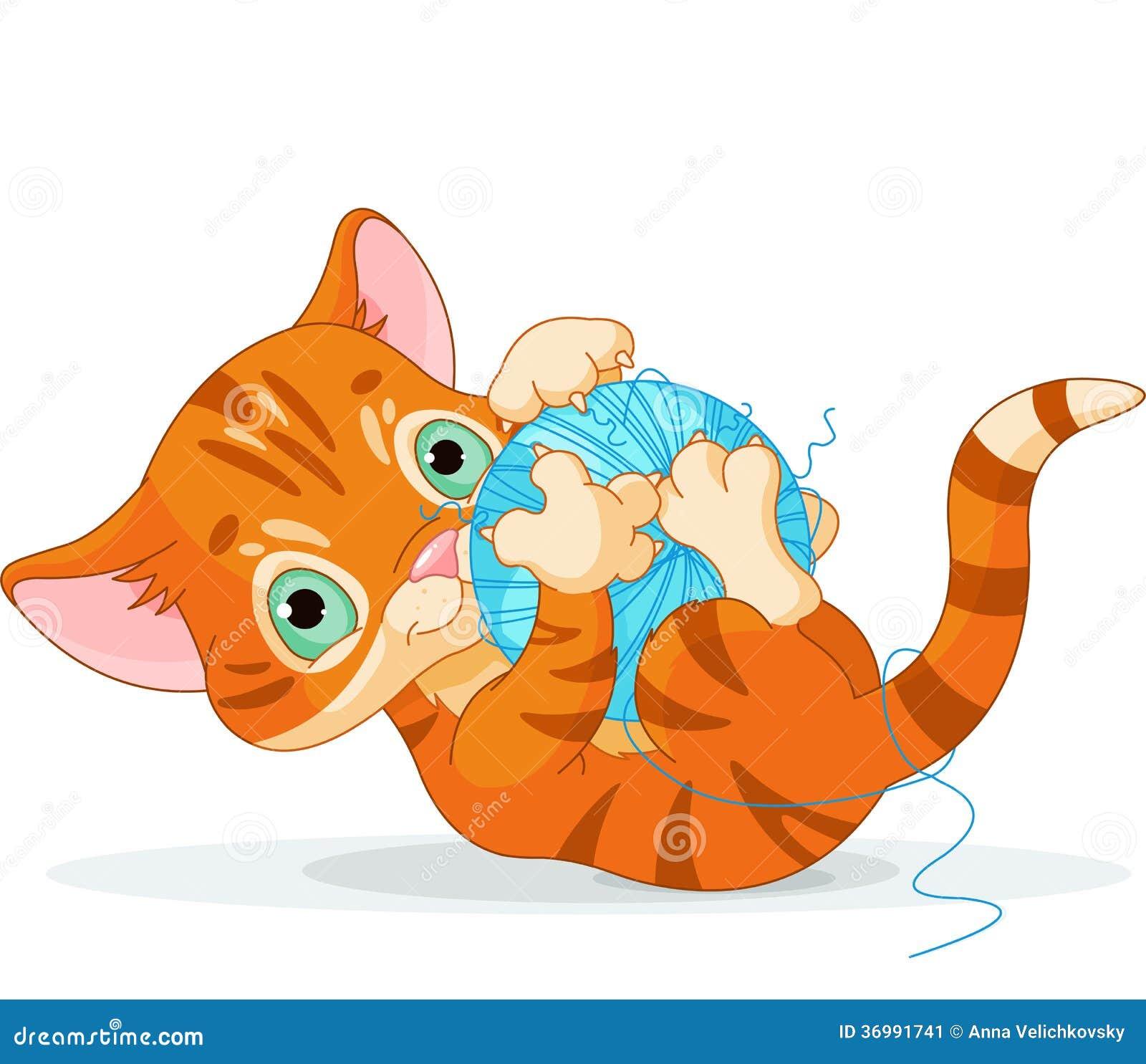 Spielerisches beleibtes Kätzchen