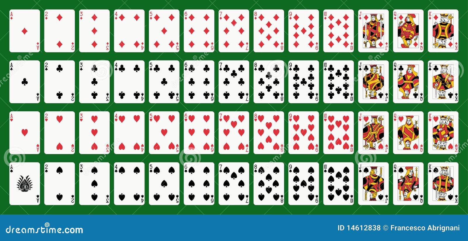 Spielkarten der Weinlese stock abbildung Bild von grn