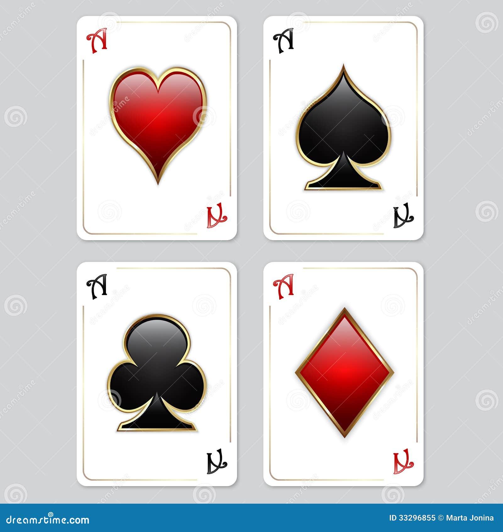 Spielkarten Asse