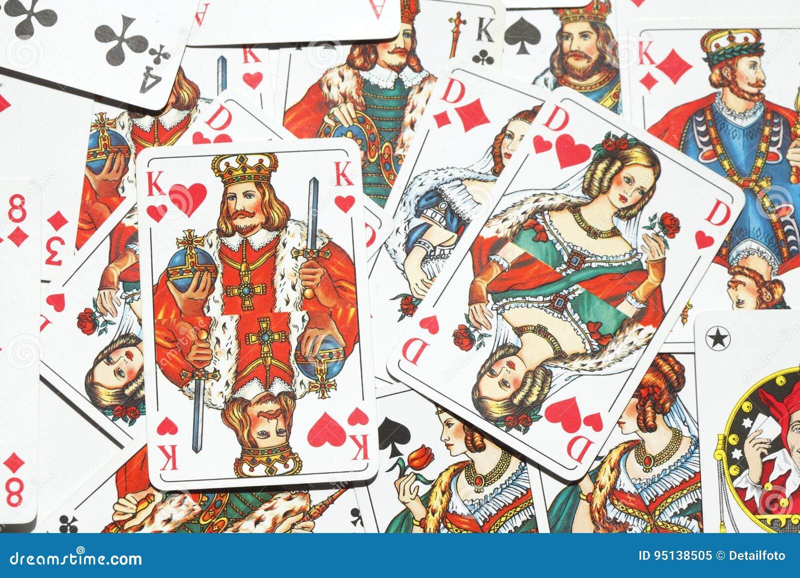 Spielkarten Kartenspiel Stockbild Bild Von Rummy Europa 95138505