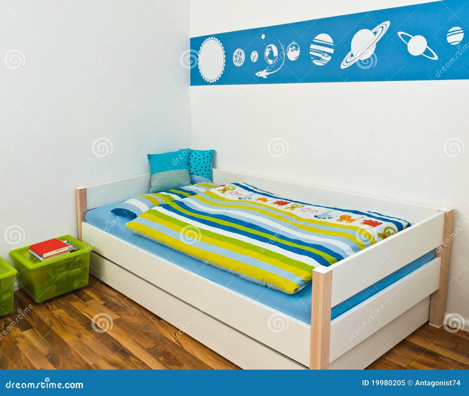 Spielzimmer Der Kinder Mit Bett Stockbild Bild Von Dekoration