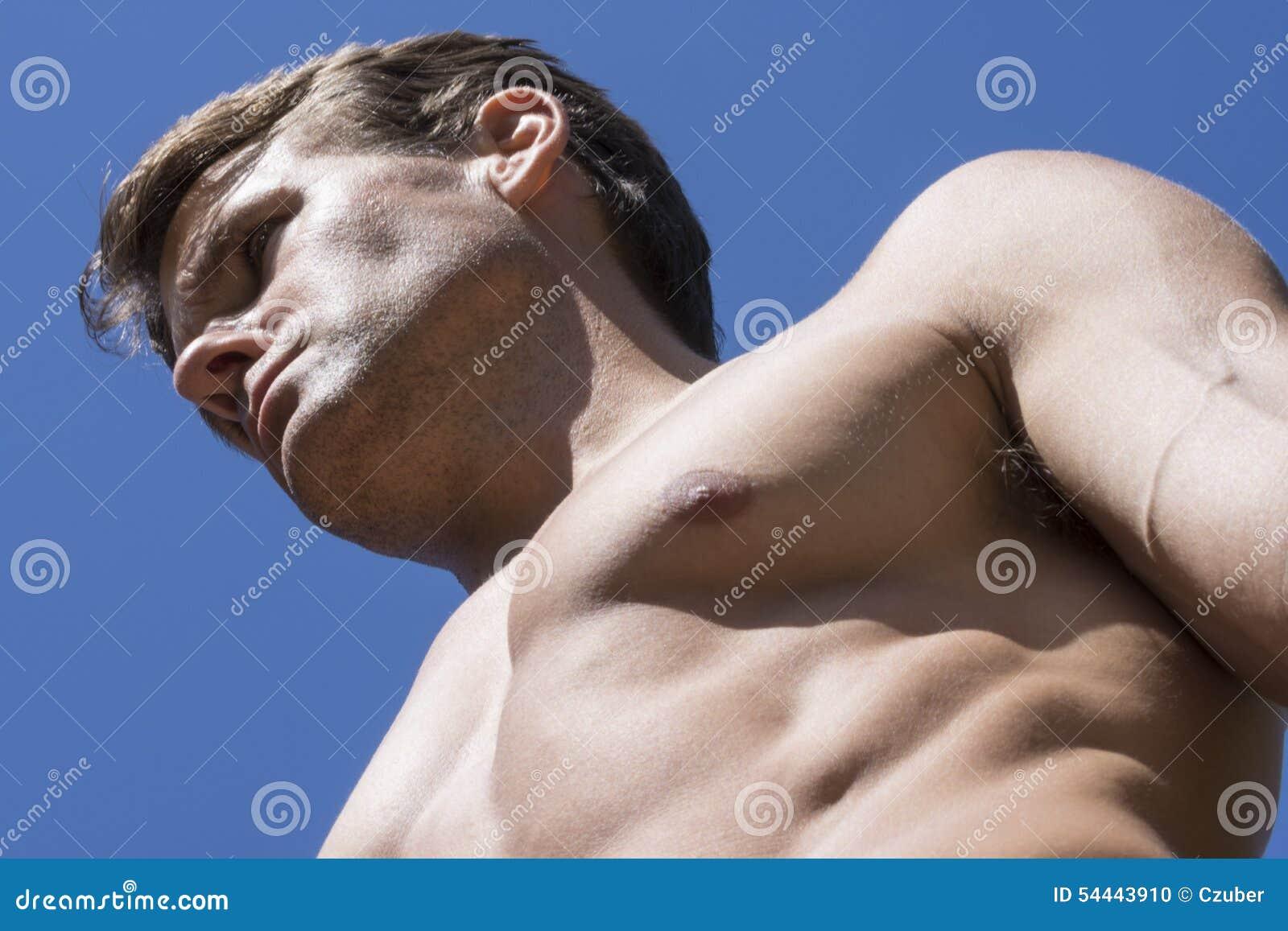 Spier mannelijke homp