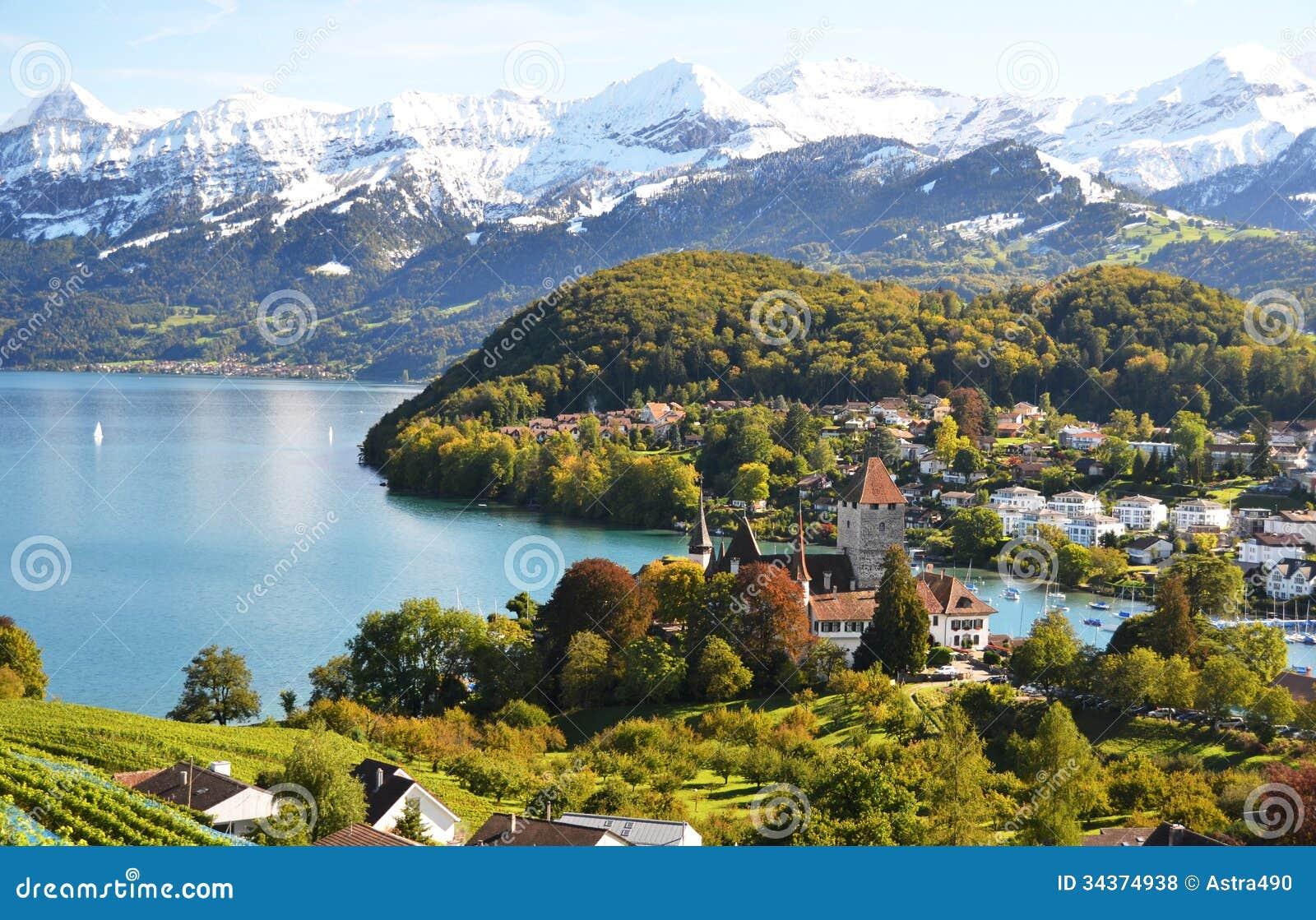 Spiez Switzerland  city photos gallery : Spiez Castle, Switzerland Royalty Free Stock Photos Image: 34374938