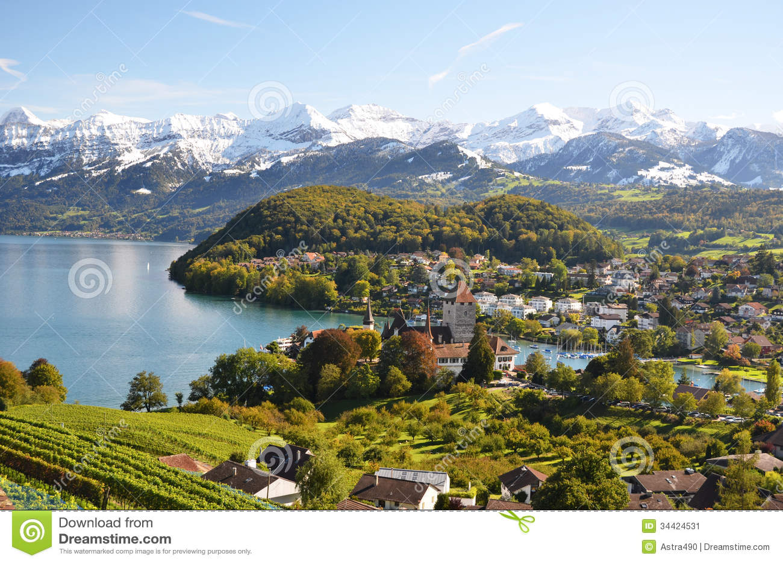 Spiez Switzerland  city pictures gallery : Spiez, Switzerland Stock Image Image: 34424531