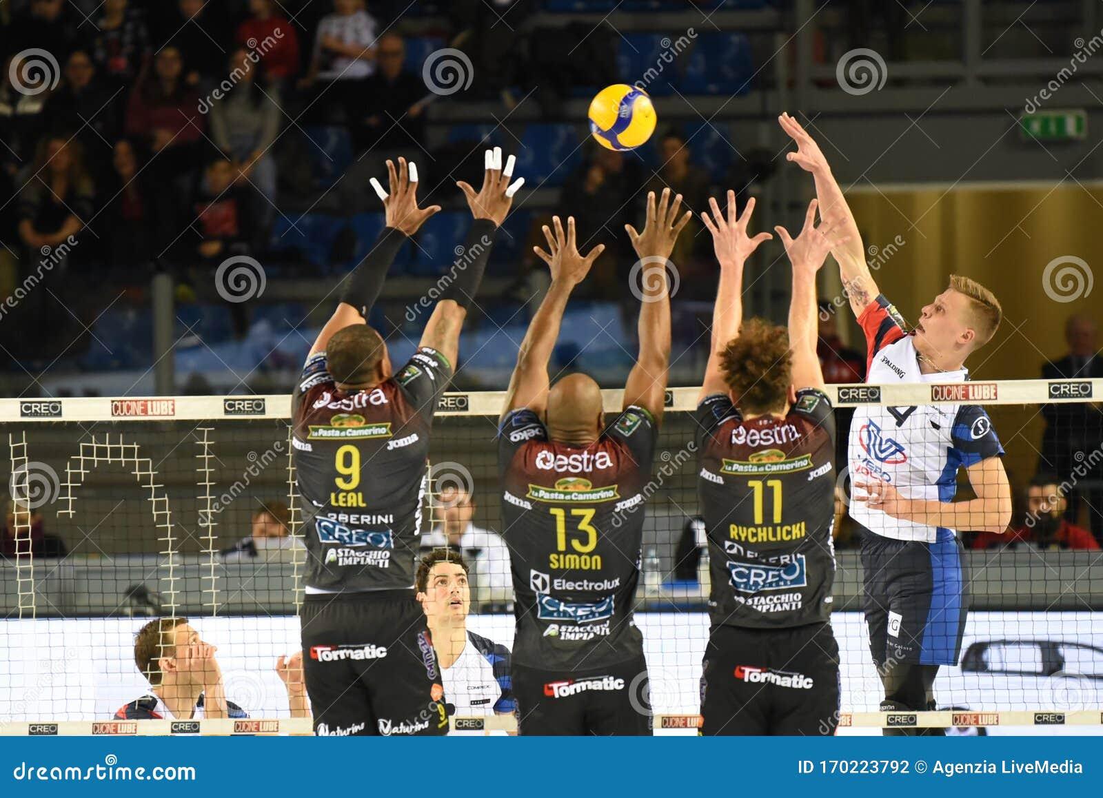 Italian Volleyball Men Cup Quarter Finals Cucine Lube Civitanova Vs Vero Volley Monza Editorial Photography Image Of Match Bartomeoli 170223792