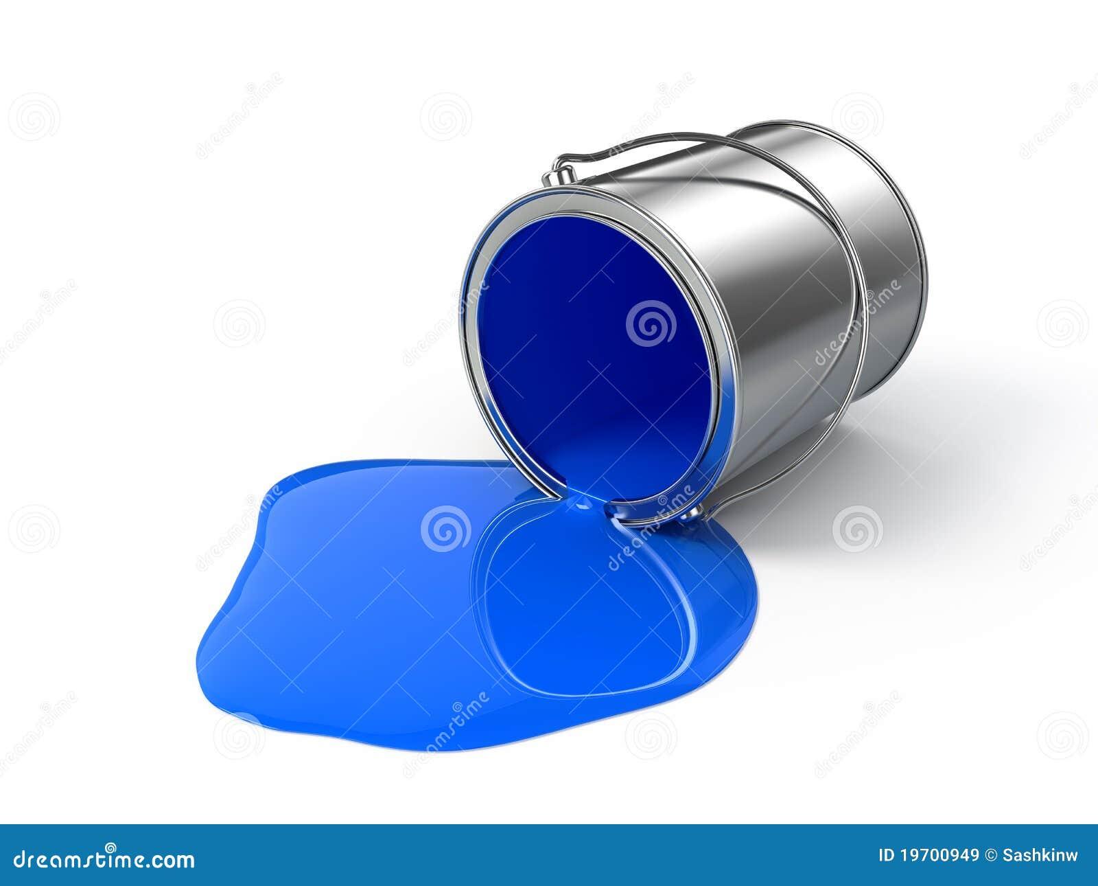 Spilld blå målarfärg stock illustrationer. Bild av blooping - 19700949