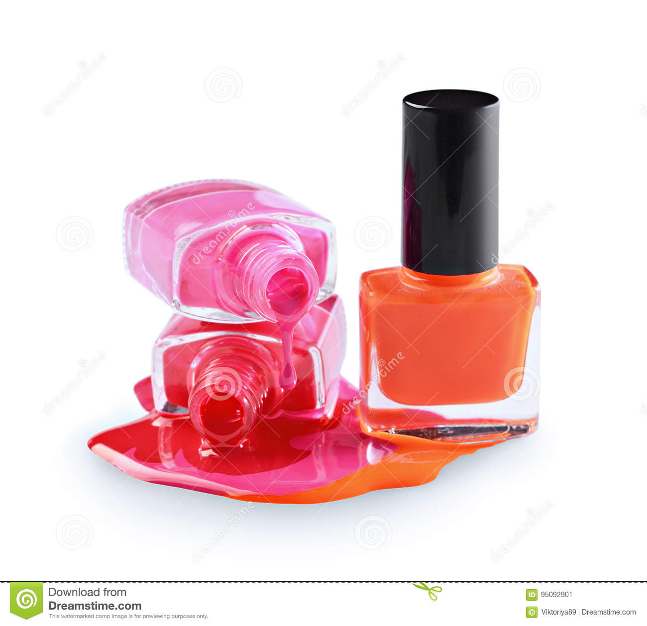 Spilled Colored Nail Polish As Sample Of Cosmetics Product Stock ...