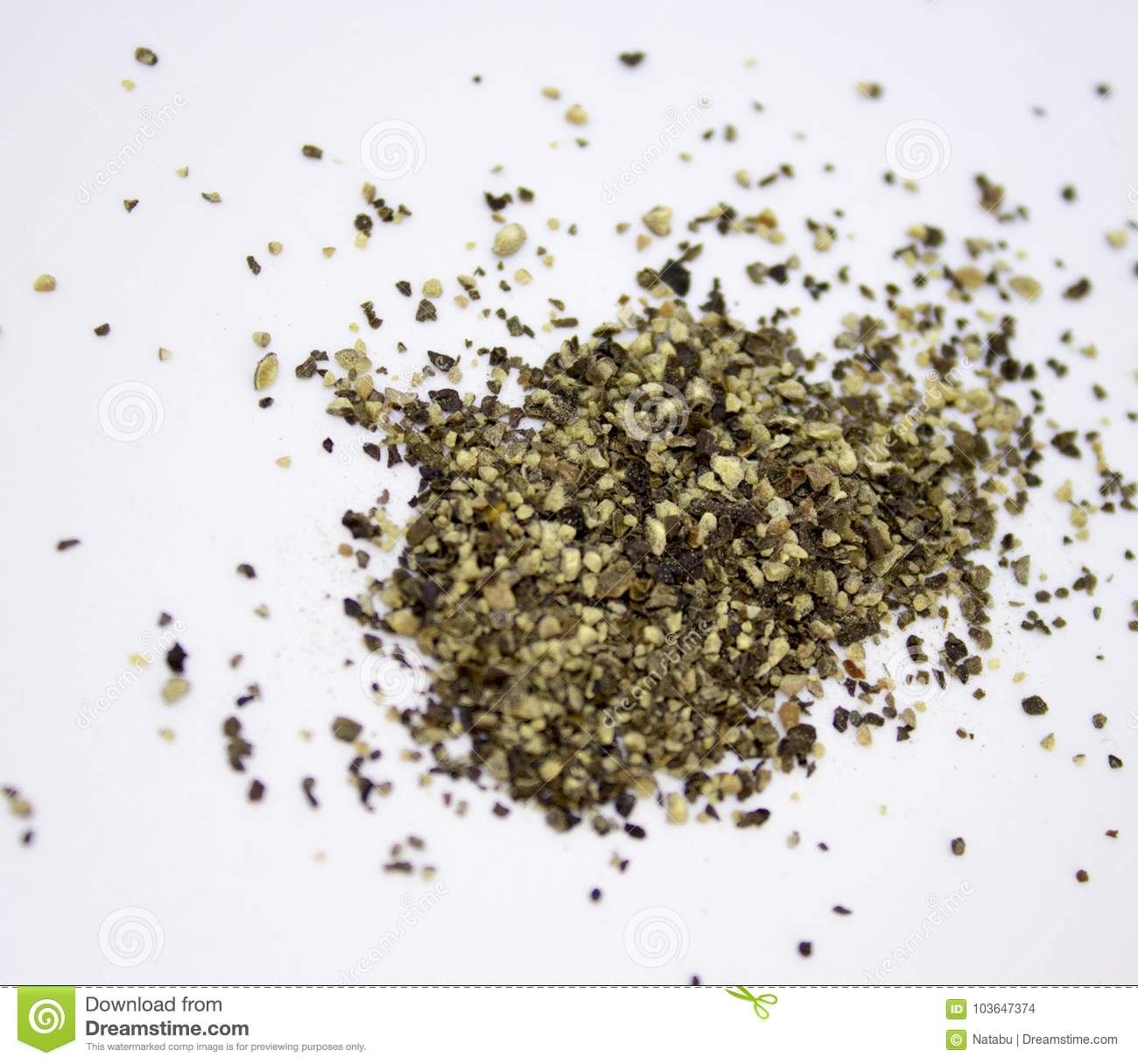 Spilled ground pepper