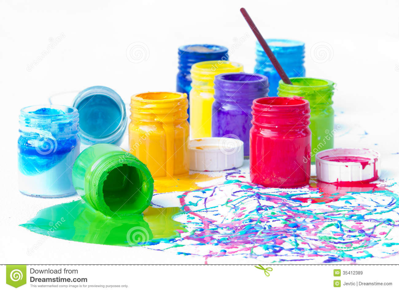 Spilled Paint Bottles Royalty Free Stock Images - Image ...