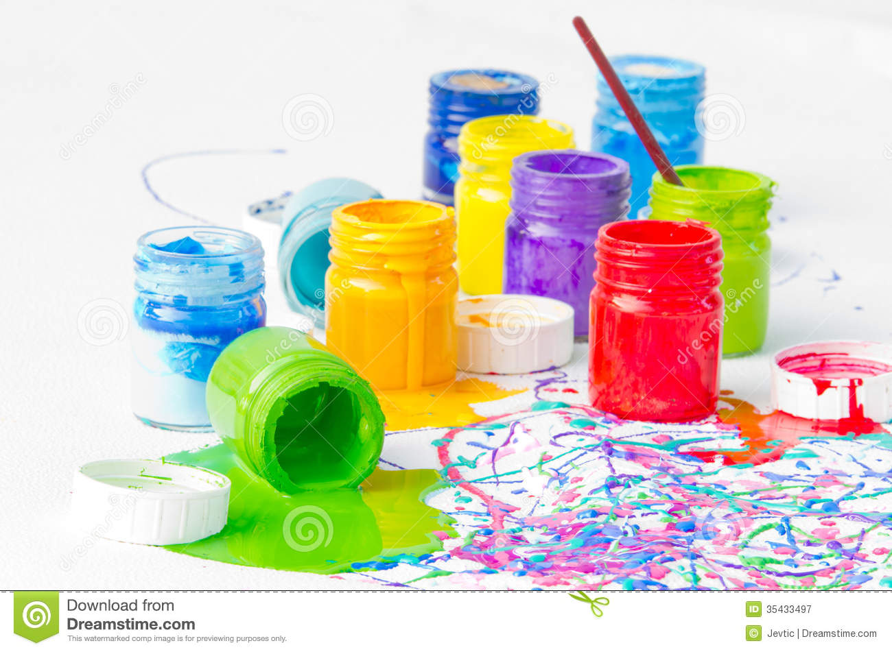 Spilled Paint Bottles Royalty Free Stock Photography - Image: 35433497 Nail Polish Bottles Clipart