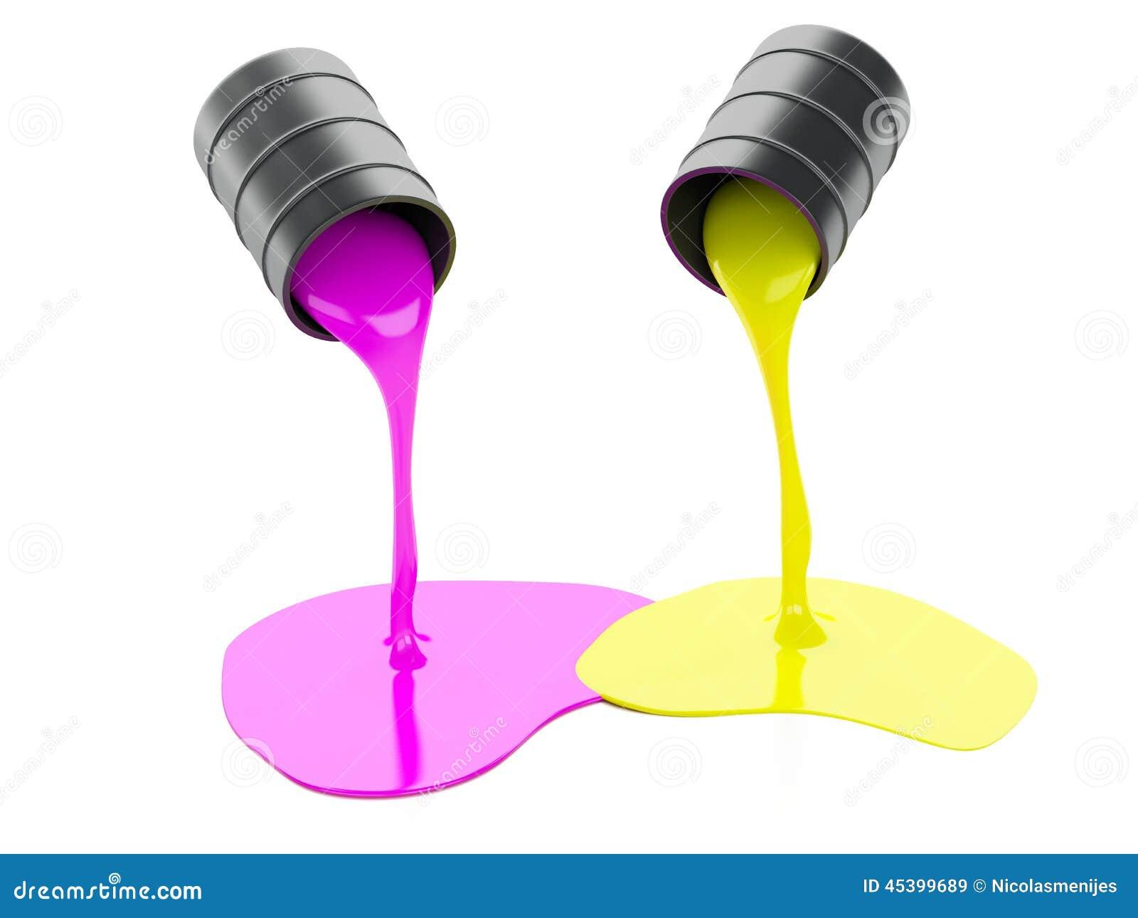 Paint Cans Spilling