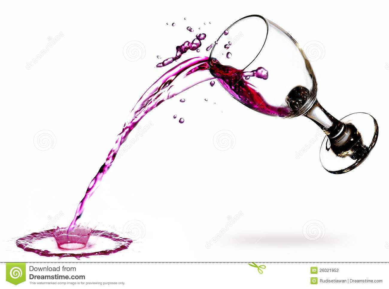 SPILLED WINE GLASS RED PHOTO ART PRINT POSTER PICTURE BMP425A